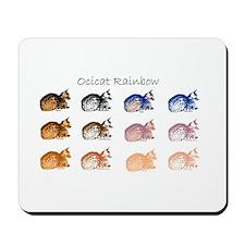 Ocicat Rainbow Mousepad