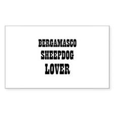 BERGAMASCO SHEEPDOG LOVER Rectangle Decal