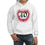 Gothic Heart 40th Hooded Sweatshirt