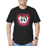 Gothic Heart 40th Men's Fitted T-Shirt (dark)