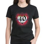 Gothic Heart 40th Women's Dark T-Shirt