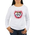 Gothic Heart 40th Women's Long Sleeve T-Shirt