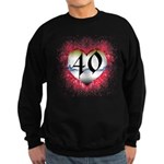 Gothic Heart 40th Sweatshirt (dark)