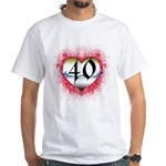 Gothic Heart 40th White T-Shirt