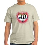 Gothic Heart 40th Light T-Shirt