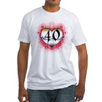 Gothic Heart 40th Fitted T-Shirt