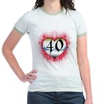 Gothic Heart 40th Jr. Ringer T-Shirt