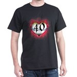 Gothic Heart 40th Dark T-Shirt