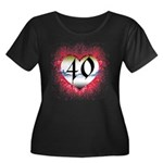 Gothic Heart 40th Women's Plus Size Scoop Neck Dar