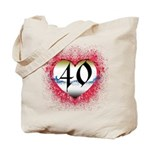 Gothic Heart 40th Tote Bag