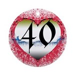 Gothic Heart 40th Ornament (Round)