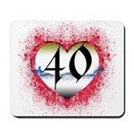 Gothic Heart 40th Mousepad