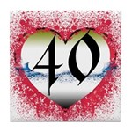 Gothic Heart 40th Tile Coaster