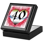 Gothic Heart 40th Keepsake Box