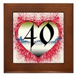 Gothic Heart 40th Framed Tile