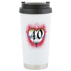 Gothic Heart 40th Stainless Steel Travel Mug