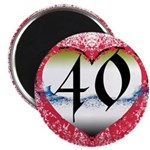 Gothic Heart 40th Magnet