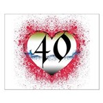 Gothic Heart 40th Small Poster