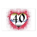 Gothic Heart 40th Postcards (Package of 8)