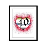 Gothic Heart 40th Framed Panel Print