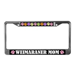 Weimaraner Mom License Frame Gift