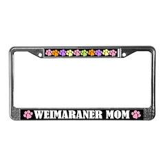 Weimaraner Mom License Frame Gift