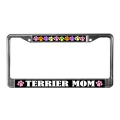 Cute Terrier Mom License Plate Frame