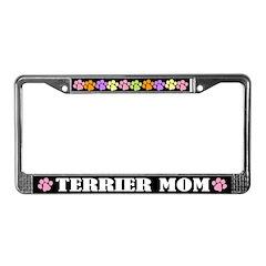 Cute Terrier Mom License Plate Frame