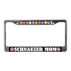 Cute Schnauzer Mom License Plate Frame