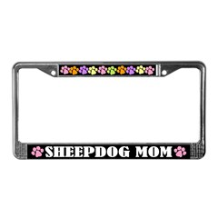 Cute Sheep Dog License Plate Frame