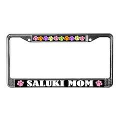 Cute Saluki Mom License Frame Dog Gift