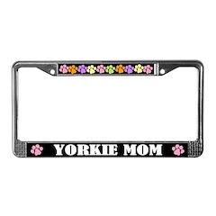 Yorkie Mom License Frame Dog Gift