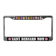Saint Bernard Mom License Plate Frame