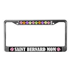 Saint Bernard Mom License Plate Frame
