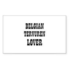 BELGIAN TERVUREN LOVER Rectangle Decal