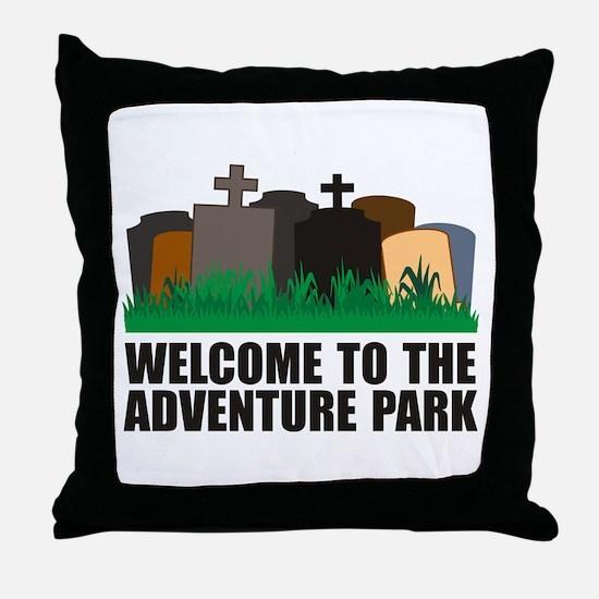 Adventure Park Throw Pillow