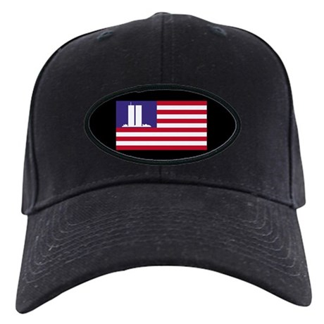 The WTC Memorial flag Black Cap