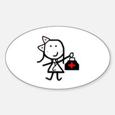 Girl & Medical Oval Decal
