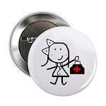 """Girl & Medical 2.25"""" Button"""