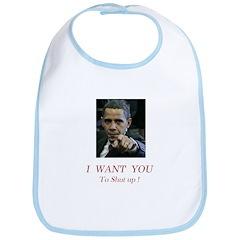 I Want You! to shut up! Bib