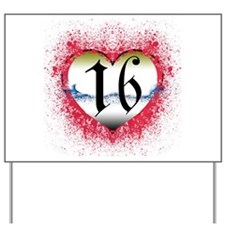 Gothic Heart 16th Yard Sign