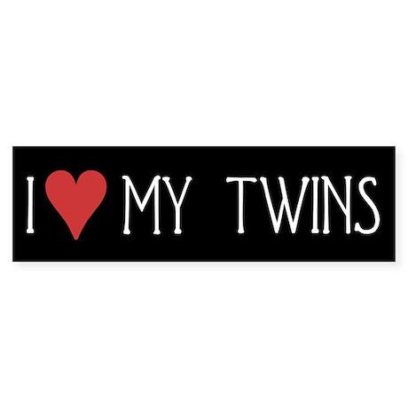 I Heart My Twins Bumper Sticker