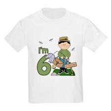 Lil Fisherman 6th Birthday T-Shirt