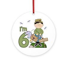 Lil Fisherman 6th Birthday Ornament (Round)
