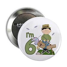 "Lil Fisherman 6th Birthday 2.25"" Button"