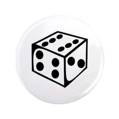 "Dice - Six 3.5"" Button"