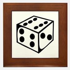 Dice - Six Framed Tile