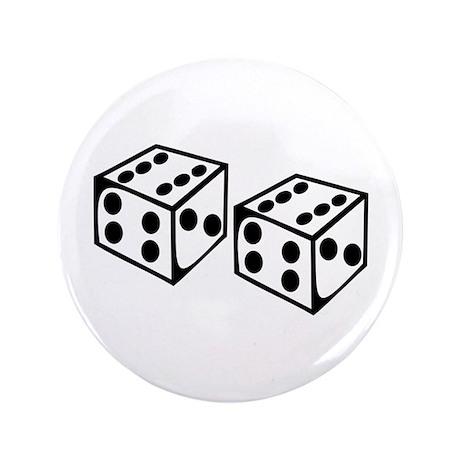 "Dice - 66 3.5"" Button"