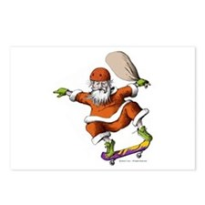 Skateboarding Santa Postcards (Package of 8)
