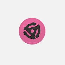 45 insert pink Mini Button (10 pack)